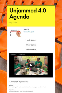 Unjammed 4.0 Agenda
