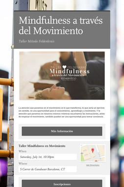 Mindfulness a través del Movimiento