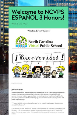 Welcome to NCVPS ESPAÑOL 3 Honors!