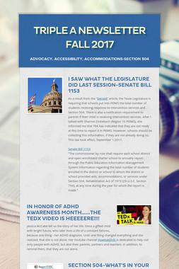 Triple A Newsletter Fall 2017