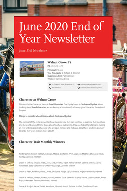June 2020 End of Year Newsletter