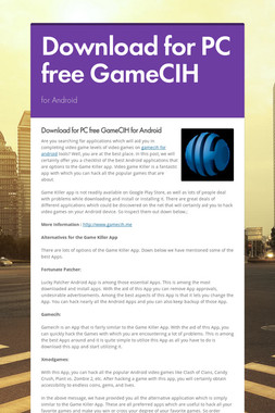 Download for PC free GameCIH