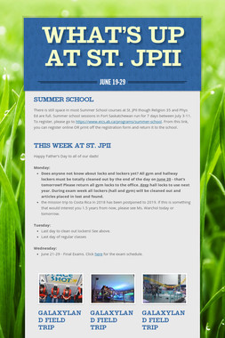 What's Up at St. JPII