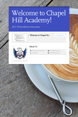 Welcome to Chapel Hill Academy!