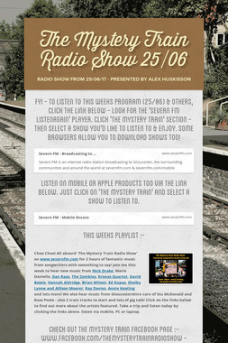 The Mystery Train Radio Show 25/06