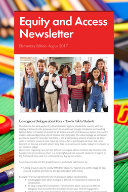 Equity and Access Newsletter