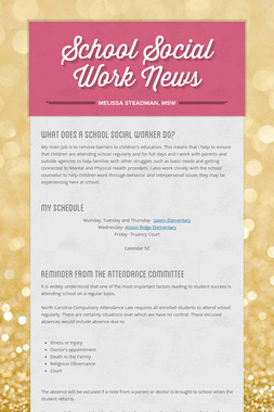 School Social Work News