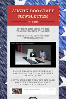 Austin ROO Staff Newsletter