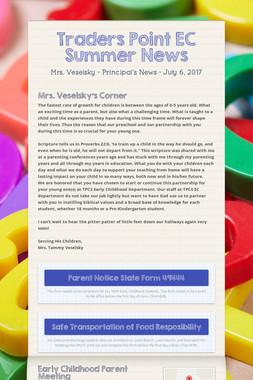 Traders Point EC Summer News