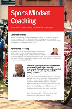 Sports Mindset Coaching