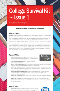 College Survival Kit ~ Issue 1