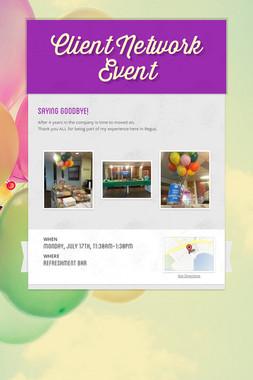 Client Network Event
