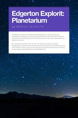 Edgerton Explorit: Planetarium