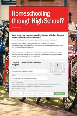 Homeschooling through High School?