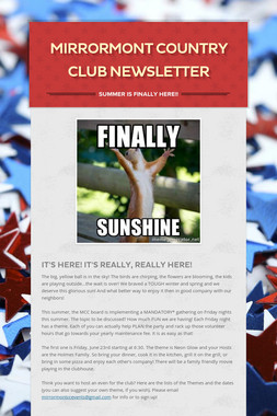 Mirrormont Country Club Newsletter