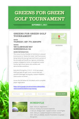 Greens for Green Golf Tournament