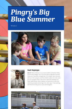 Pingry's Big Blue Summer