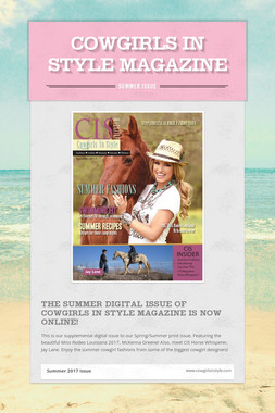 Cowgirls In Style Magazine