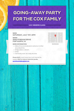 Going-Away Party For The Cox Family