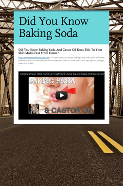Did You Know Baking Soda