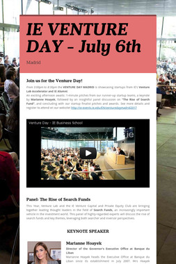 IE VENTURE DAY - July 6th