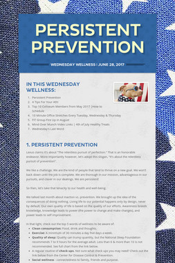 Persistent Prevention