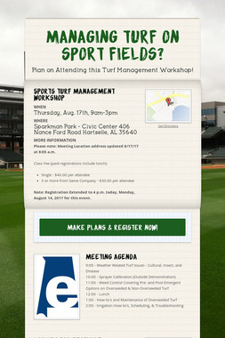 Managing turf on sport fields?