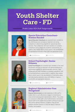 Youth Shelter Care - FD