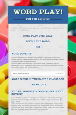 Word Play!