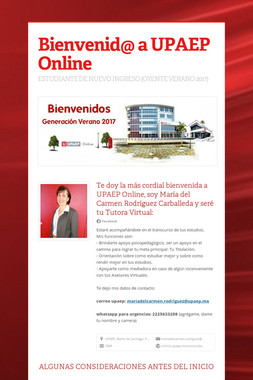 Bienvenid@ a UPAEP Online
