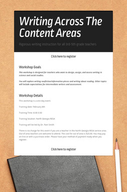 Writing Across The Content Areas