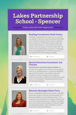 Lakes Partnership School - Spencer
