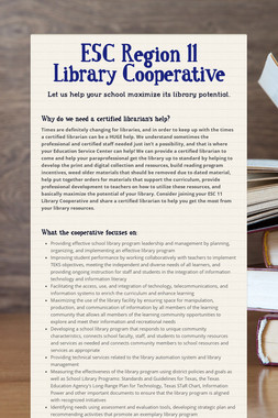 ESC Region 11 Library Cooperative