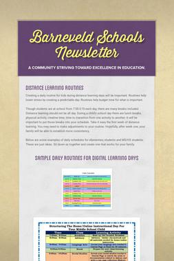 Barneveld Schools Newsletter