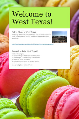 Welcome to West Texas!