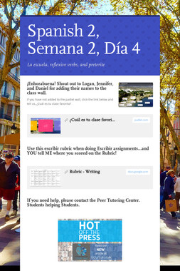 Spanish 2, Semana 2, Día 4