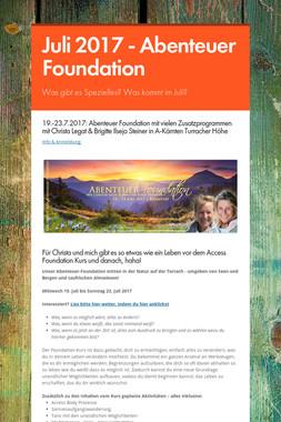 Juli 2017 - Abenteuer Foundation