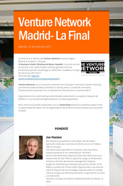 Venture Network Madrid- La Final