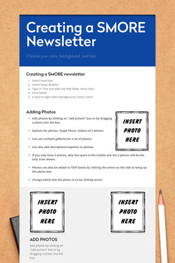Creating a SMORE Newsletter