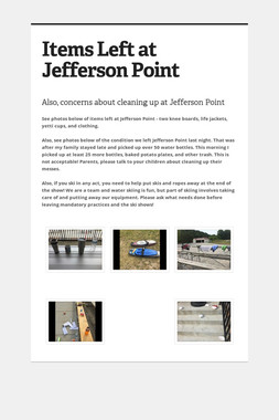 Items Left at Jefferson Point