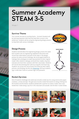 Summer Academy STEAM 3-5