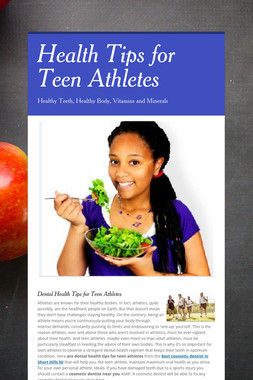 Health Tips for Teen Athletes