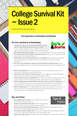 College Survival Kit ~ Issue 2