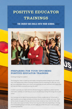Positive Educator Trainings