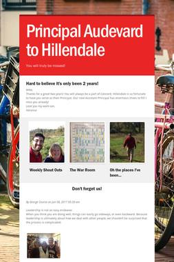 Principal Audevard  to Hillendale