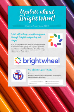 Update about Bright Wheel!