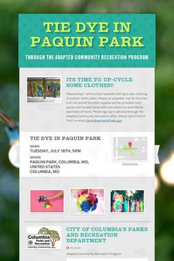 Tie Dye in Paquin Park