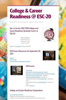 College & Career Readiness @ ESC-20