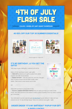 4th of July FLASH SALE
