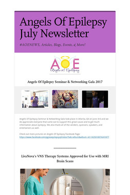 Angels Of Epilepsy July Newsletter